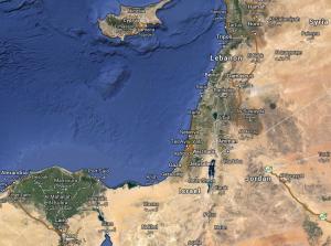 Israel Satellite World Map